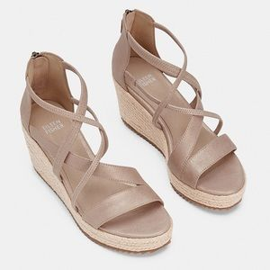 Eileen Fisher Wanda Metallic Wedge Sandal Heels